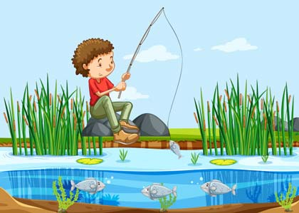 story telling singkat the fisherman and the little fish