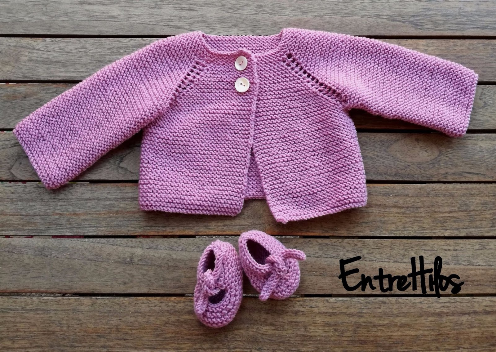 EntreHilos y algo más: Como hacer chaquetita o jersey de bebe tejido ...