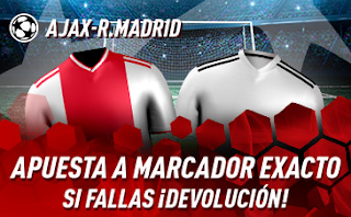 sportium Promo champions Ajax vs Real Madrid 13 febrero