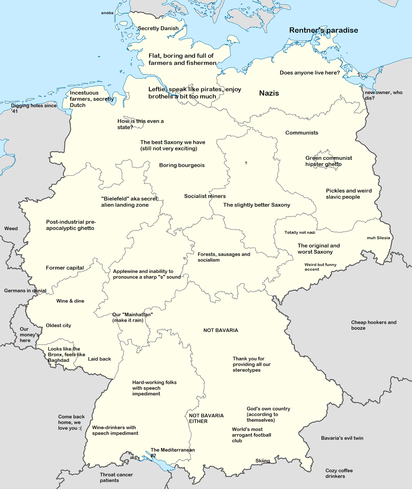Germany stereotype map