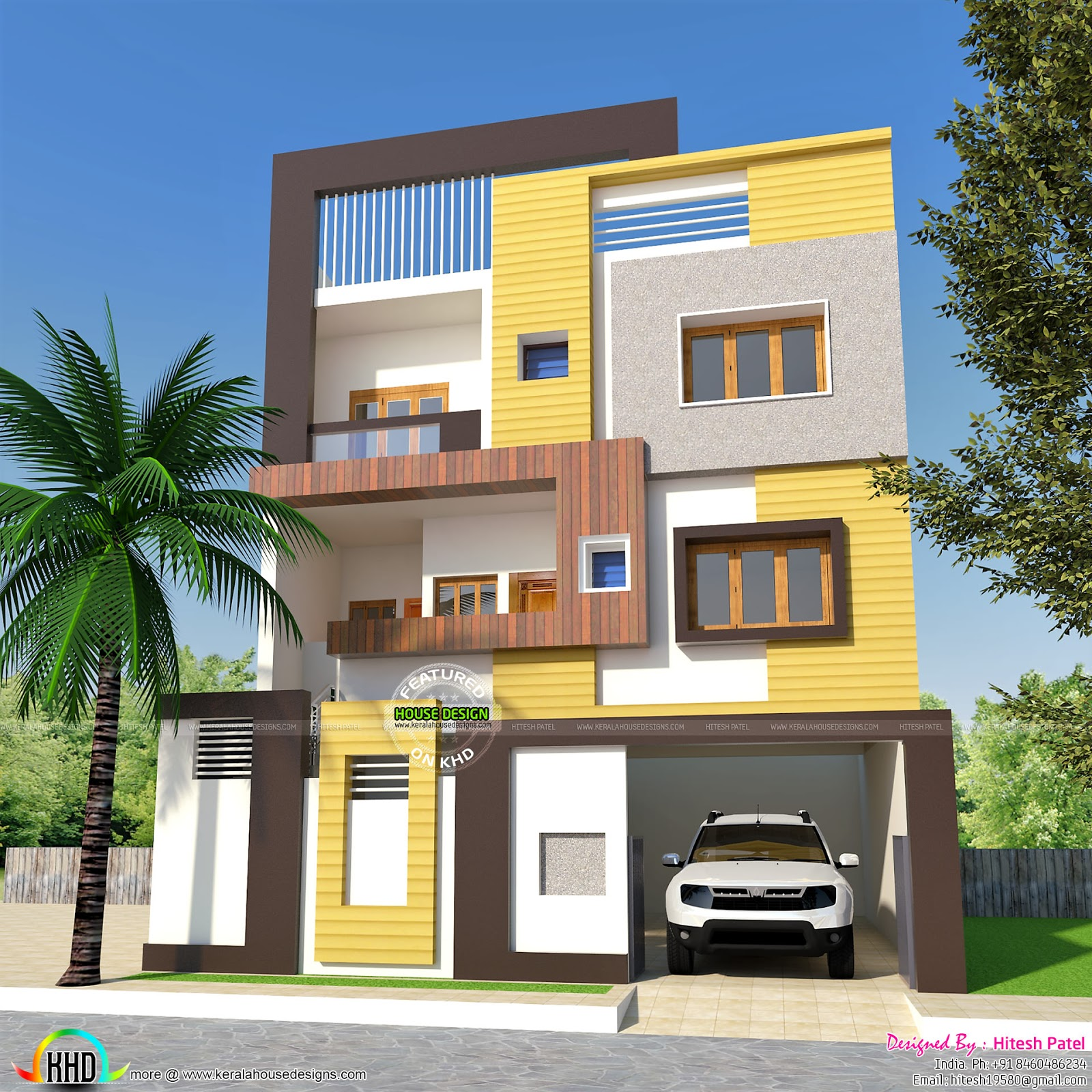 2 bhk small double storied home 1200 sq ft kerala home for Two bhk home plans