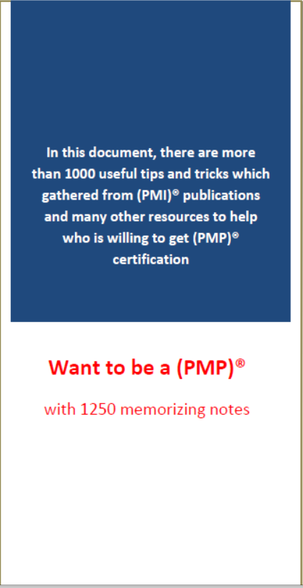 Want To Be A Pmp With 1250 Memorizing Notes Engineering Management