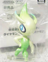 Celebi figure metallic version Tomy Monster Collection 2010 Tomy Promo