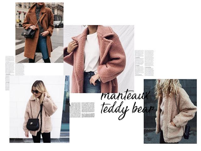 teddy bear manteau