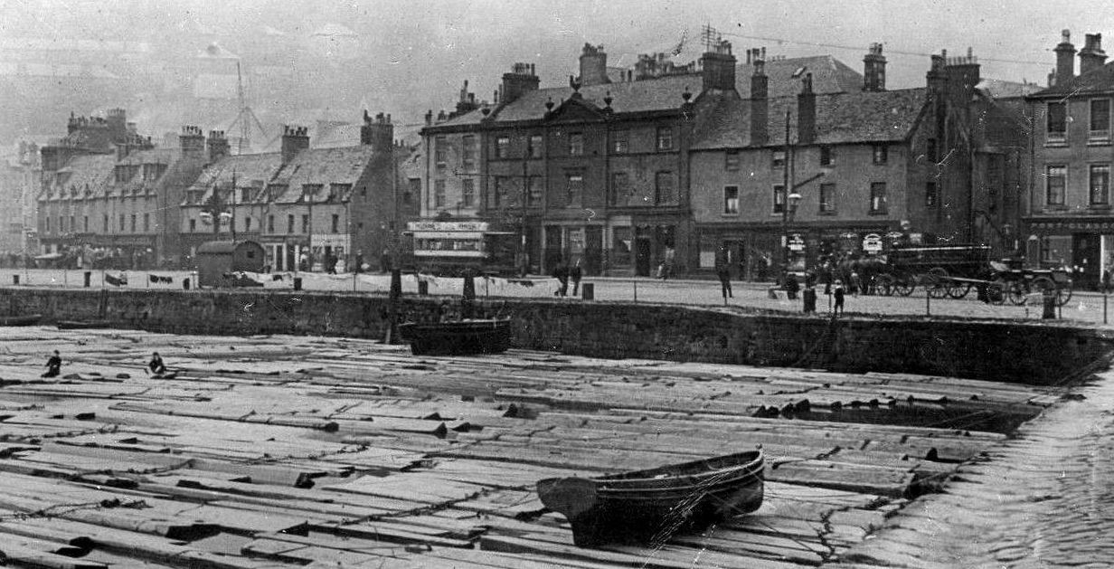 Old Photograph Fore Street Port Glasgow on Old Scottish Castles