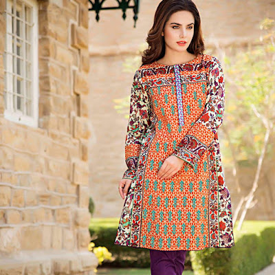 new lawn short frock design for summer season 2018