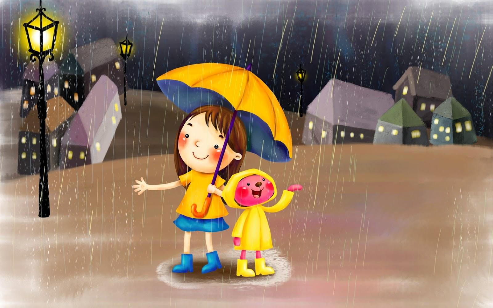 Animasi Kartun Hujan Gambar Kartun