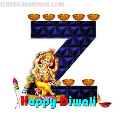 Z alphabet image diwali