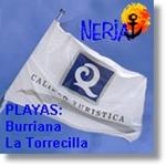 Banderas de Calidad Turística 2012 playas de Burriana y La Torrecilla en Nerja