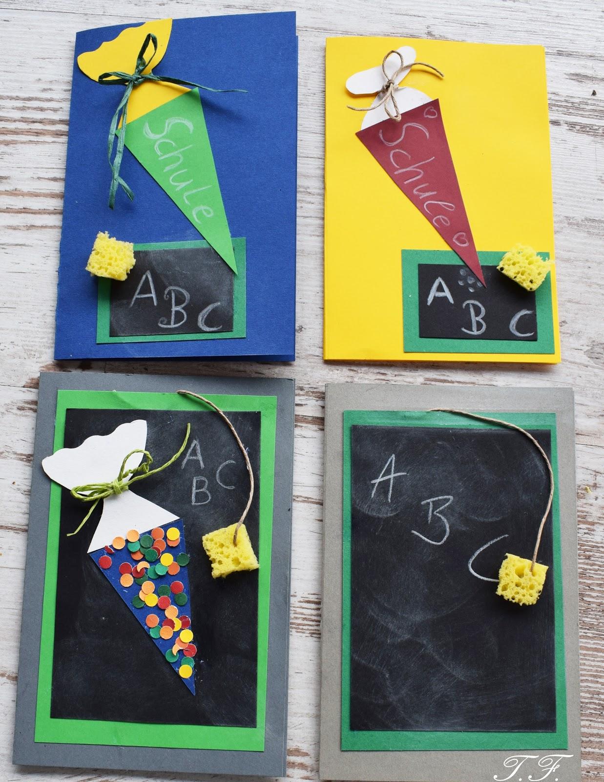 1. Schultag Karte selbst gestalten | Scheunenzauber