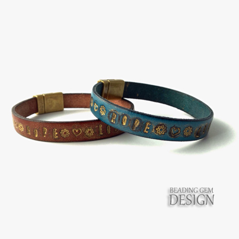 How To Make A Gilded Stamped Leather Bracelet Tutorial
