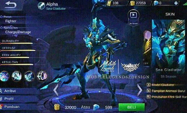 Skin Eklusif Season 6 Alpha - Sea Gladiator