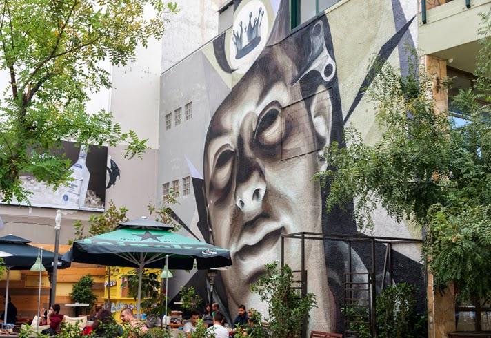 "ino ""Clockwork"" Street Art Athens"