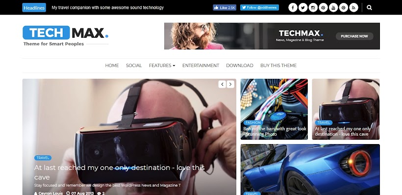 Techmax Free Blogger Template