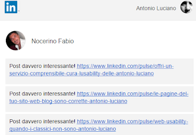 linkedin pulse post recensioni feedback