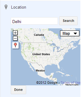 Add Location to the Blogspot post
