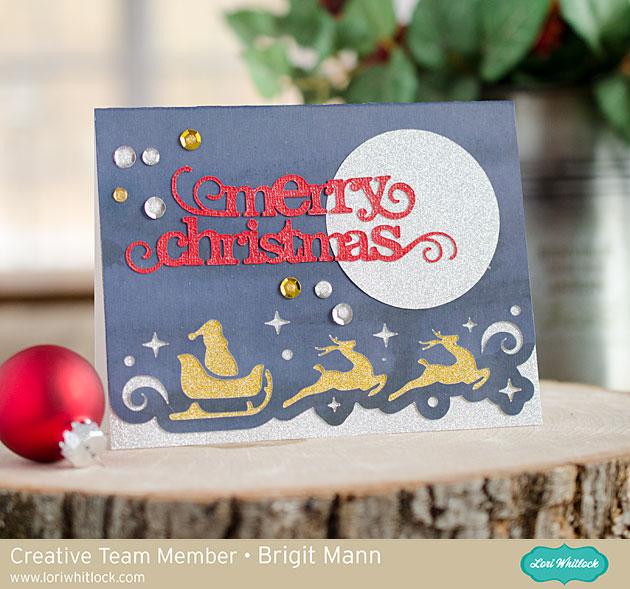Christmas Border Edge Cards Adding Color Tutorial by Brigit