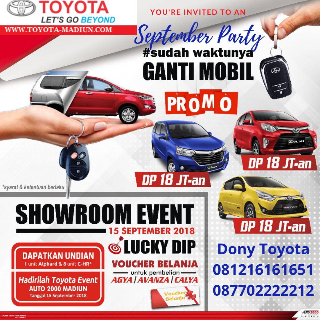 September Party Toyota Madiun Harga Otr Dan Promo Kredit Terbaru