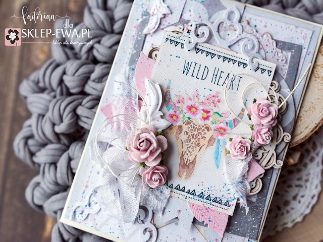 Wild Heart / Pastelowa kartka