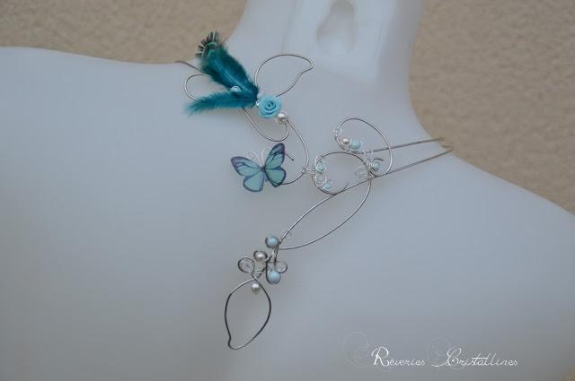 bijou mariage plumes de paon