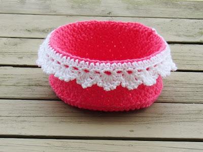 Crochet Dreamz: Lace Storage Basket, Bread Basket, Crochet ...