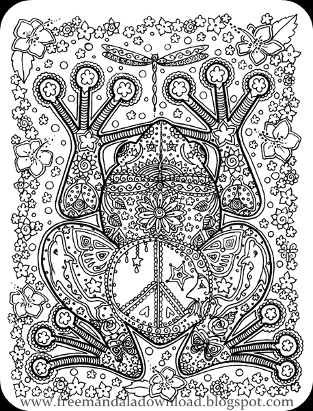 Printable Adult Coloring Pages - Free Mandala