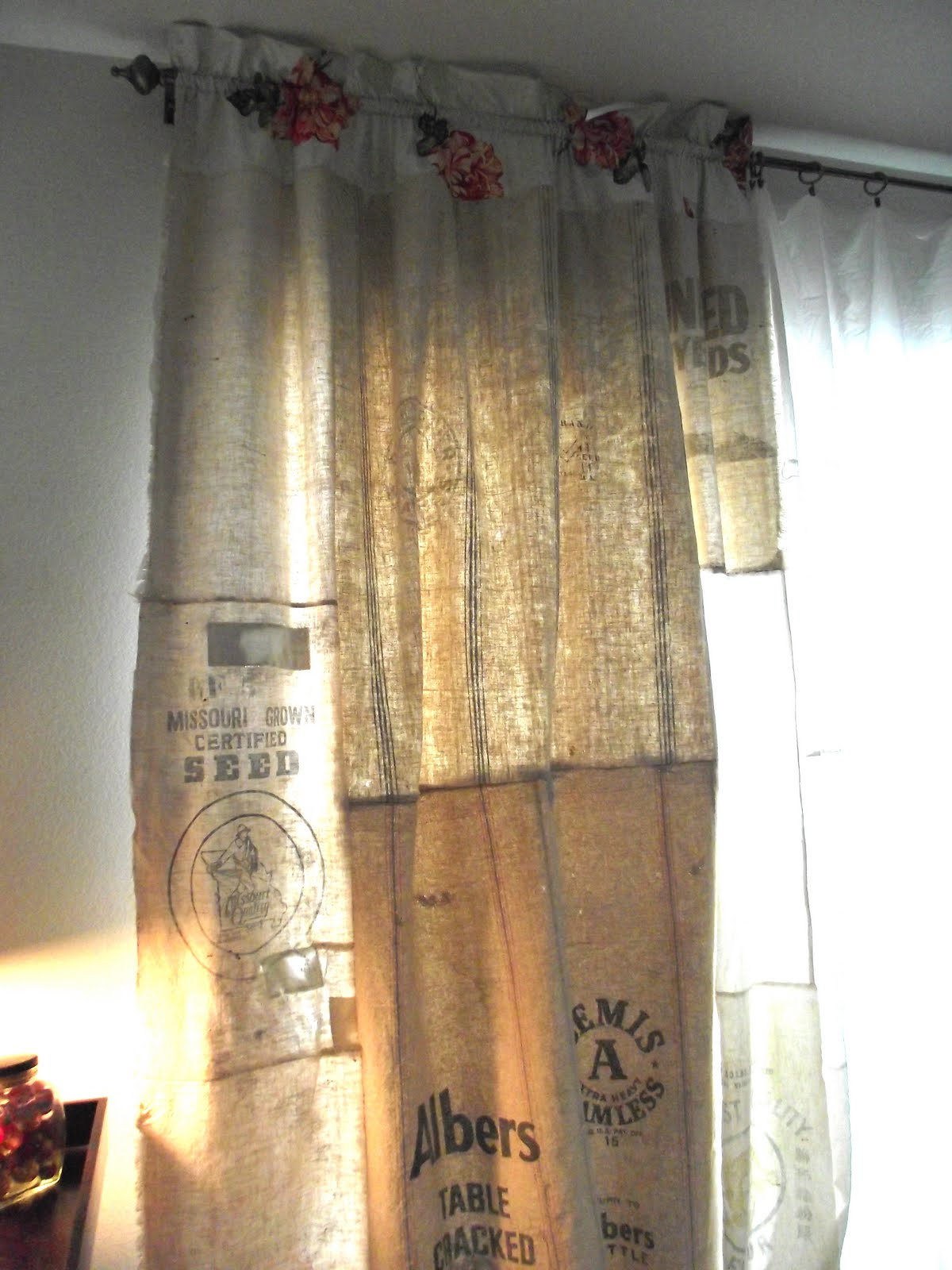 Vintage Marketplace Grain Sack Curtains