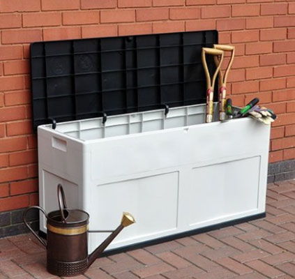 FunkyBuys Garden Storage Sturdy Plastic Deck Box Bench, Backless Benches, Deck Boxes, Furniture, Outdoor Furniture, Patio Furniture, Storage Deck Box, White Deck Box, White Deck Boxes, Wicker Patio, Wicker White Deck Boxes, White Deck Boxes At Amazon.co.uk, White Deck Boxes UK