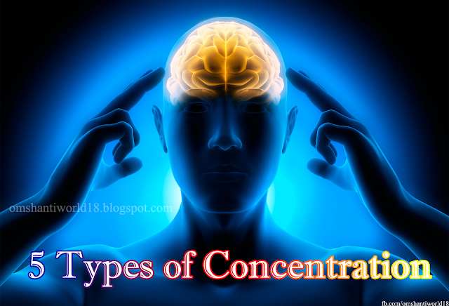5 Types of Concentration in Yogic Life