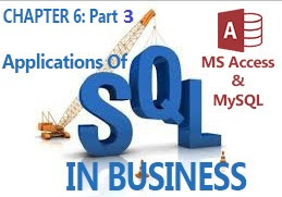 business applications of SQL in MS Access and MySQL