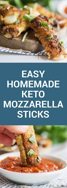 Easy Homemade Keto Mozzarella Sticks