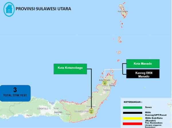 Lokasi Tes Cat BKN Propinsi Sulawesi Utara