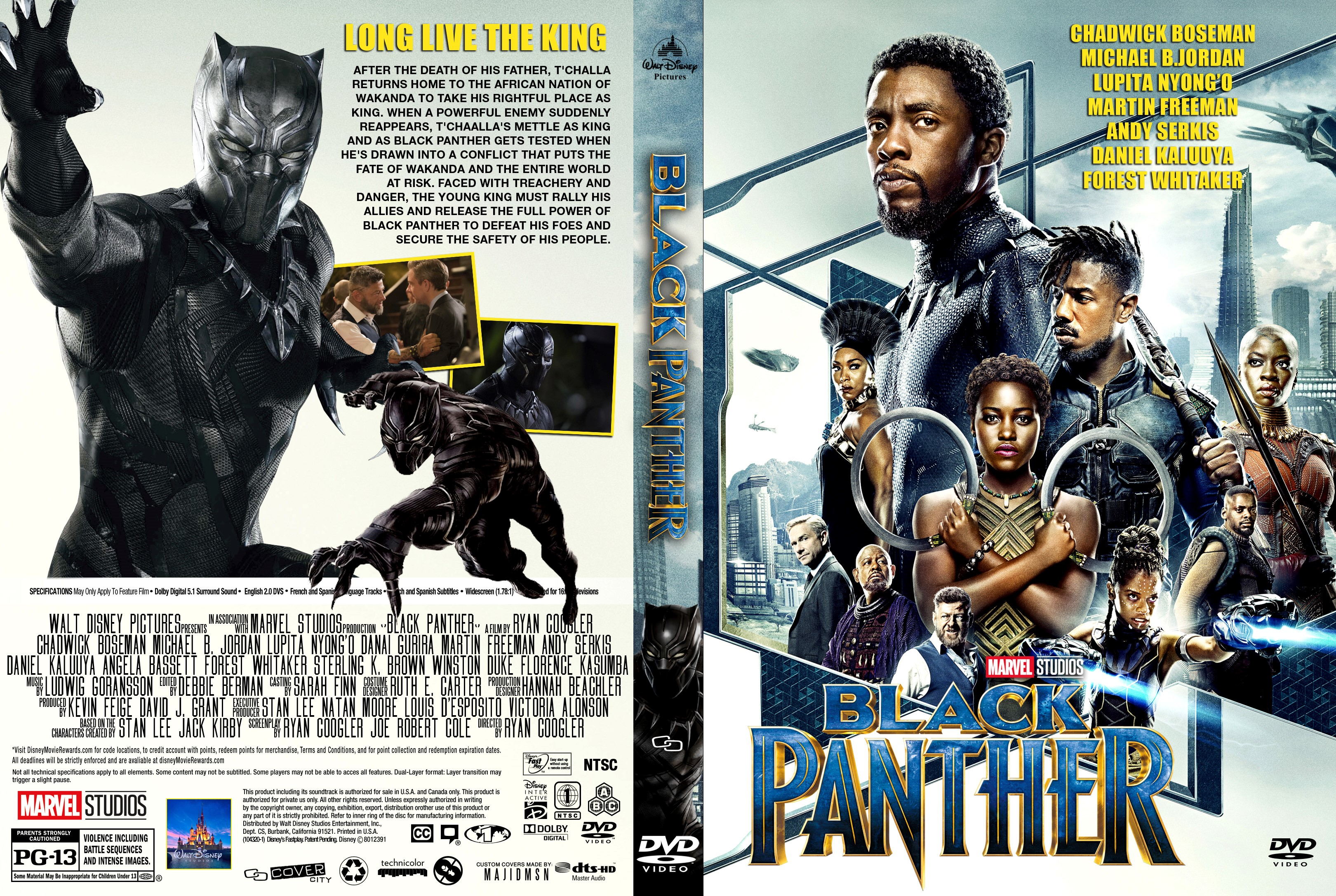 Black Panther Dvd Cover Cover Addict Dvd Bluray Covers And