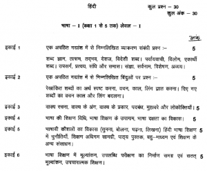 UTET Hindi Syllabus