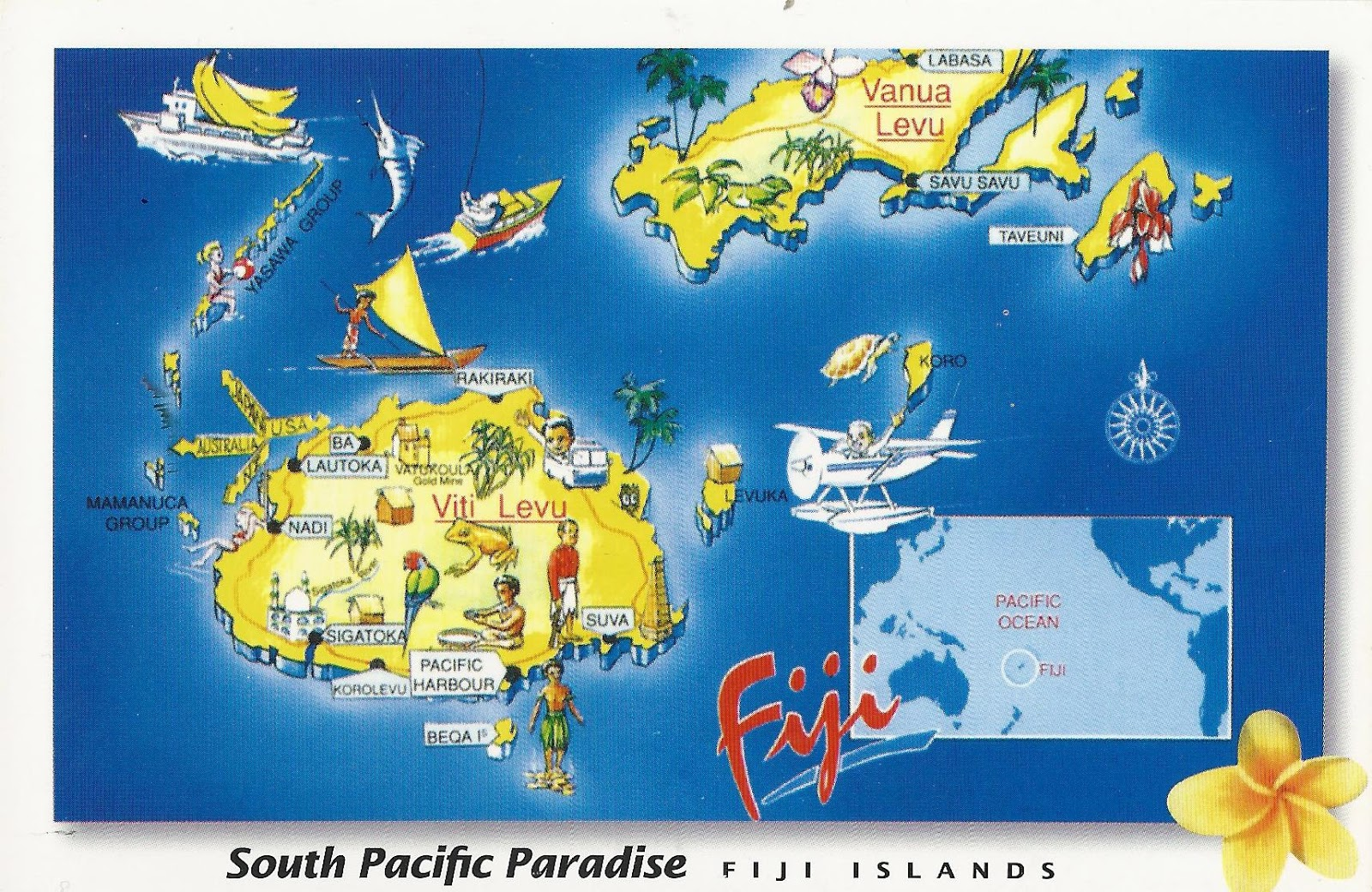 the map of fiji