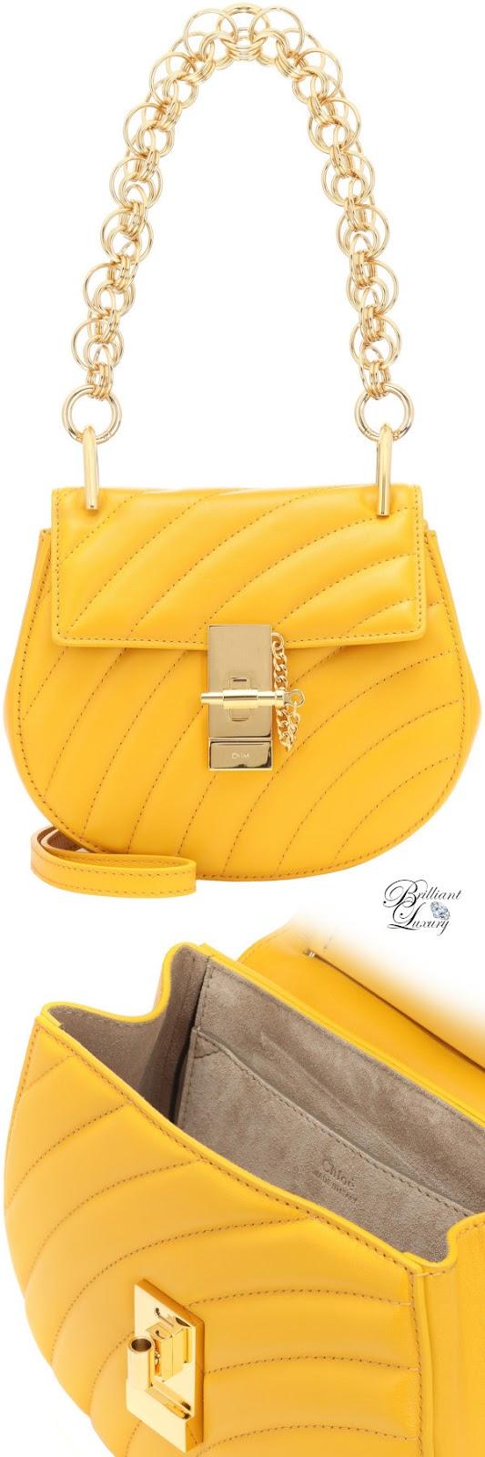 Brilliant Luxury♦Chloé Drew mini bijou shoulder bag in yellow