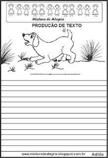 Produção de texto o cachorrinho