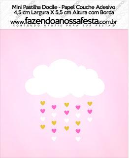 Etiquetas de Lluvia de Bendiciones para Nena para imprimir gratis.