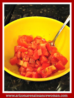 Chopped Tomatoes for Chicken Salad Tacos