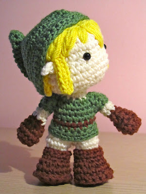 Link en amigurumi, de The Legend of Zelda