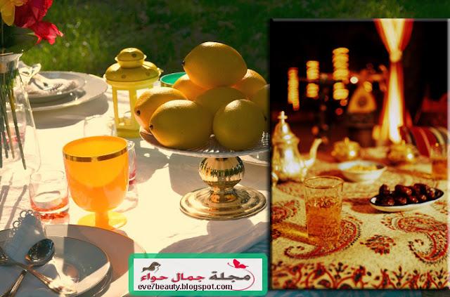 بالصور : أفكار لتزيين وترتيب السفرة فى رمضان 2015