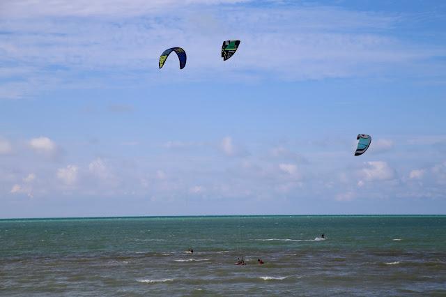 kite surfing,  holbox,yucatan, mexico