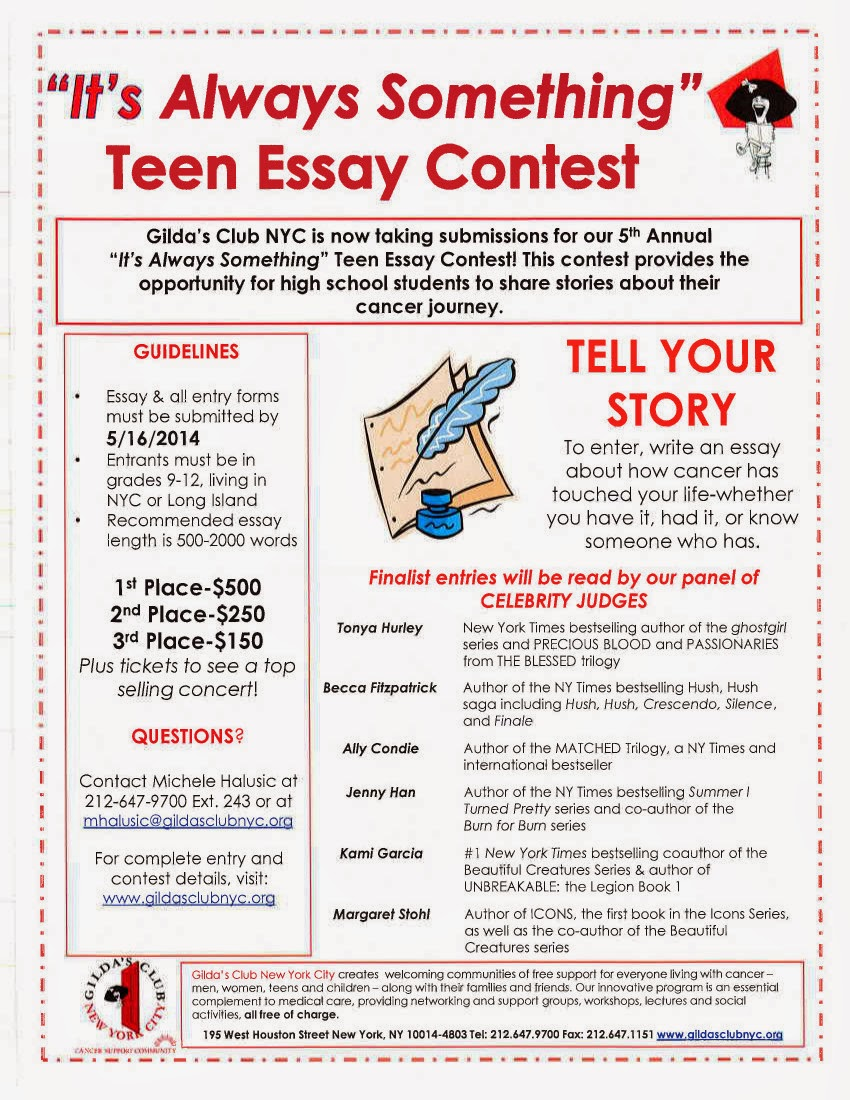 Essay writing contests for teens