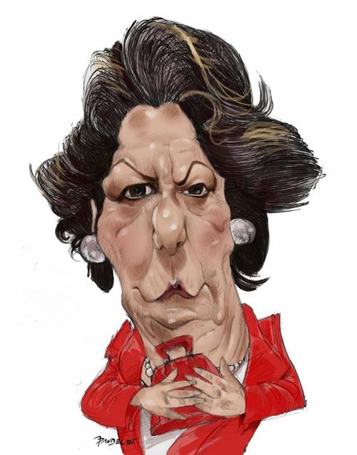 "La alcaldesa ""Rita Barberá"" por Jaime pandelet"