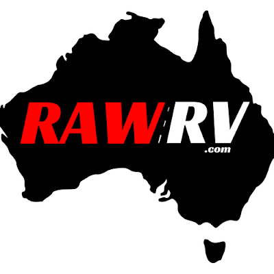Raw RV logo caravans and motorhomes Australia