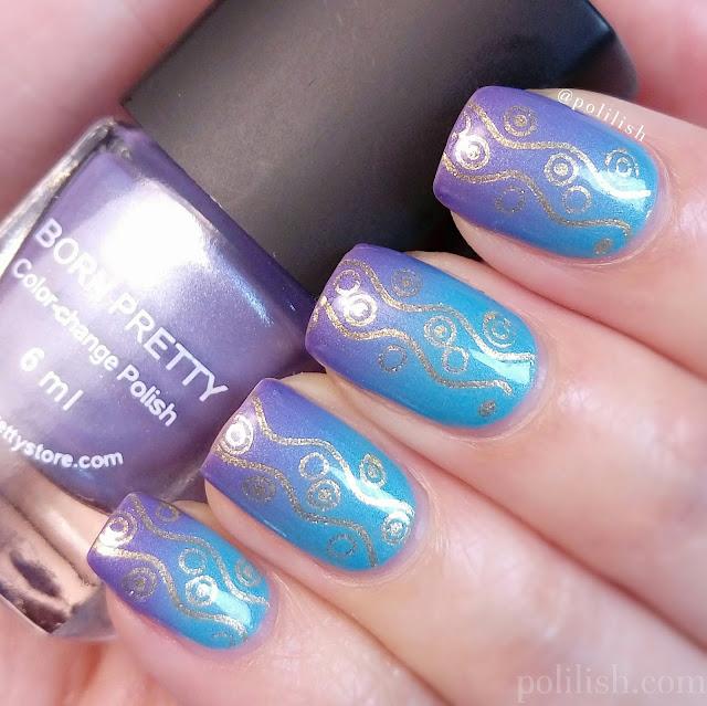 Born Pretty Store thermal color changing nail art | polilish