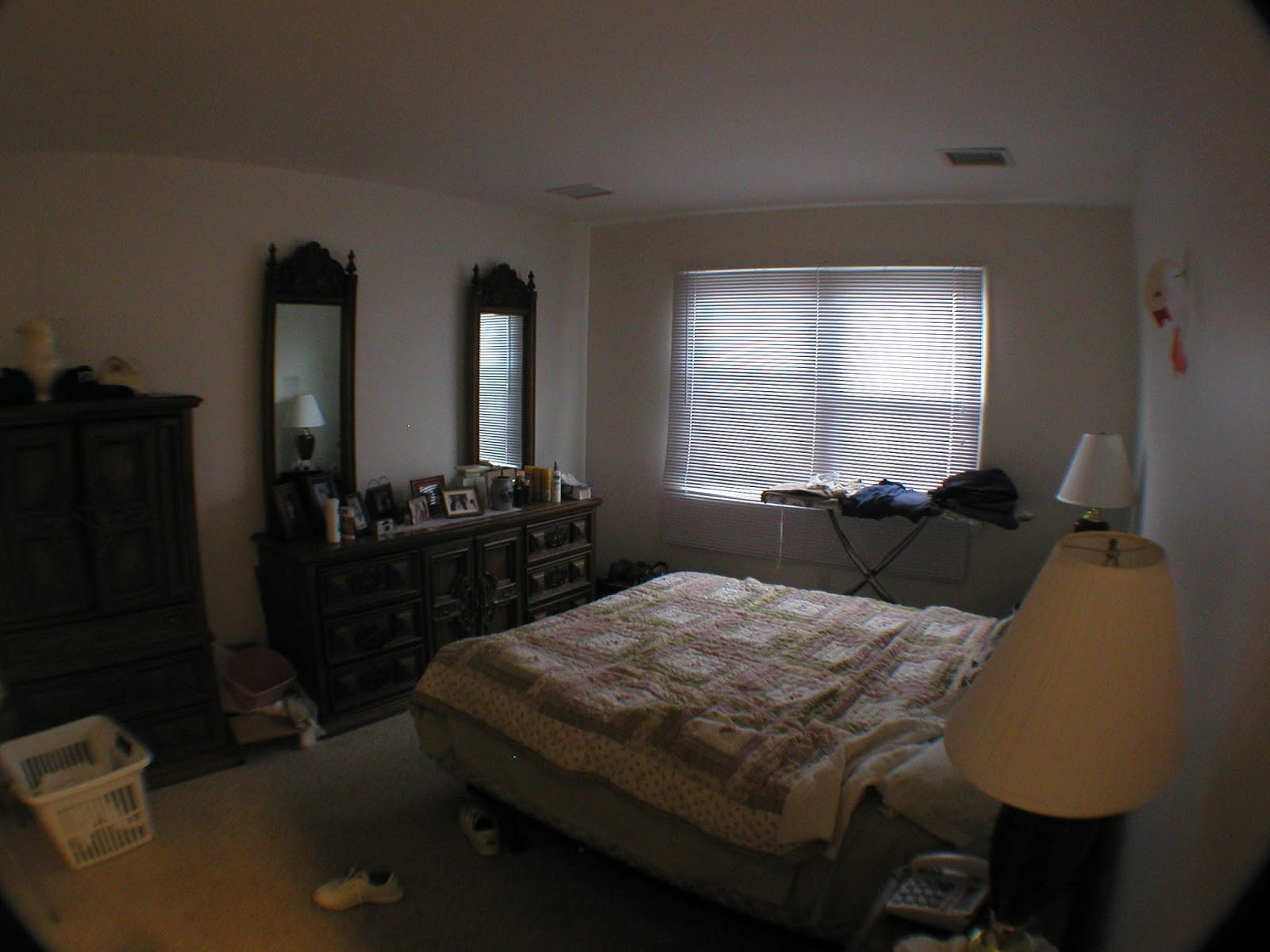 Before photo of beachy bedroom