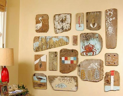 Driftwood Gallery Wall Display