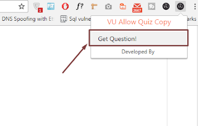 How to Copy/Save Quiz Questions from VULMS - Step 1