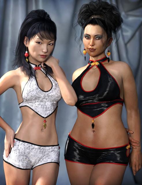 Kaori Outfit for Genesis 3 Female